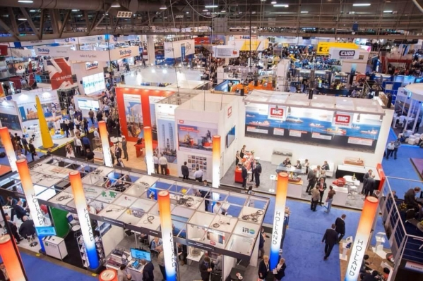 Offshore technology conference booths at trade show