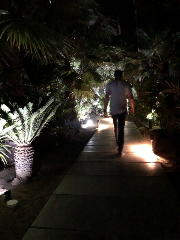 Sight, lighting, walkways, experience