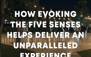Capturing the five senses in an experience