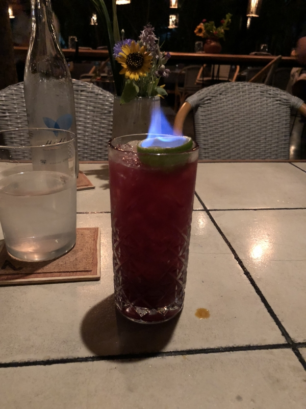 instagrammable, cocktail, fire, presentation